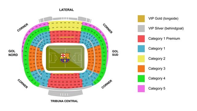 Stadionplan Camp Nou - FC Barcelona
