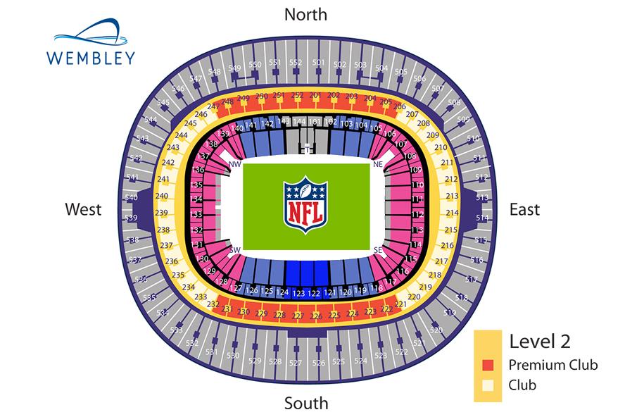 Stadionplan Wembley Stadion für NFL Spiele