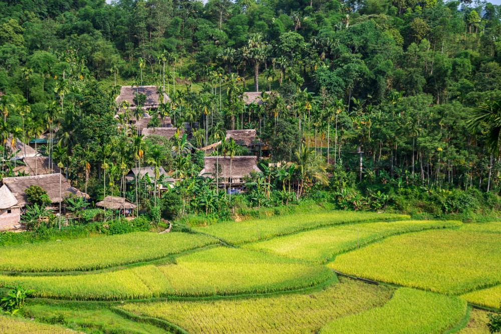 Dorf in Pu Luong, Vietnam
