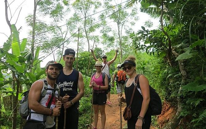 Wanderung in Pu Luong, Vietnam