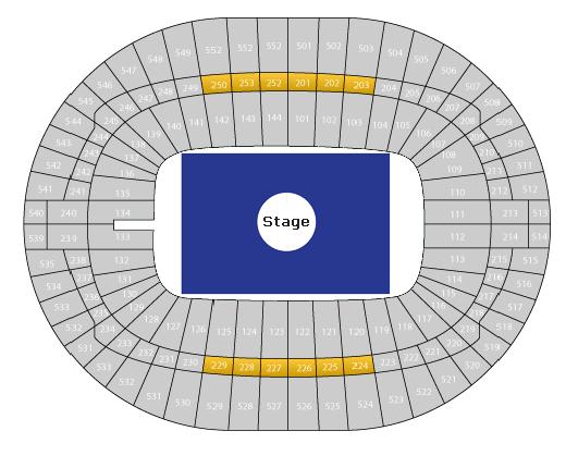 Stadionplan Wembley Stadion für Konzerte Center Stage